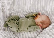 Organic Cotton Swaddle - Grey Stripe