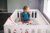 Cotton Muslin Swaddle Blanket Set - Summer Poppy