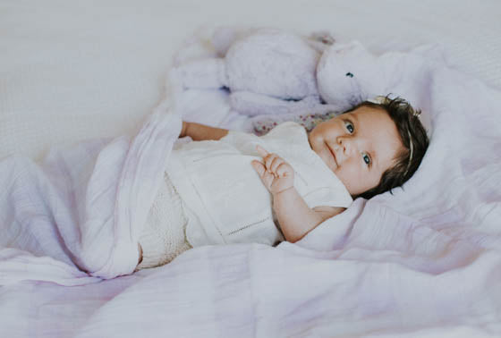 Cotton Swaddle - Lilac Plaid