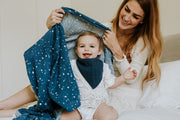 Cotton Muslin Swaddle Blanket - Star Sailing