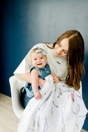 Cotton Muslin Swaddle Blanket - Narwhal