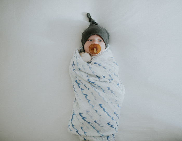 Cotton Swaddle - High Tide