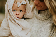 Cotton Swaddle - Taupe Cross