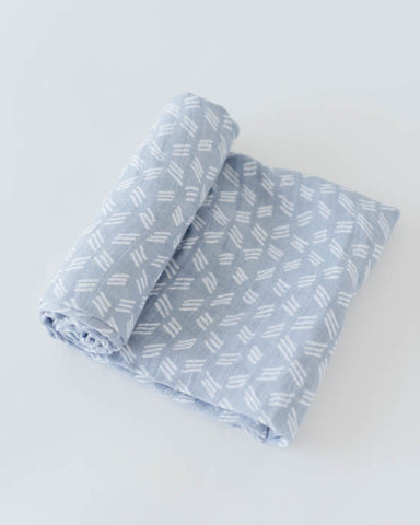 Cotton Swaddle - Blue Grass