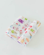 Cotton Muslin Swaddle Blanket - Brain Freeze