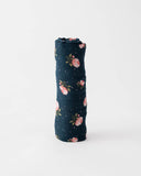 Cotton Swaddle - Midnight Rose