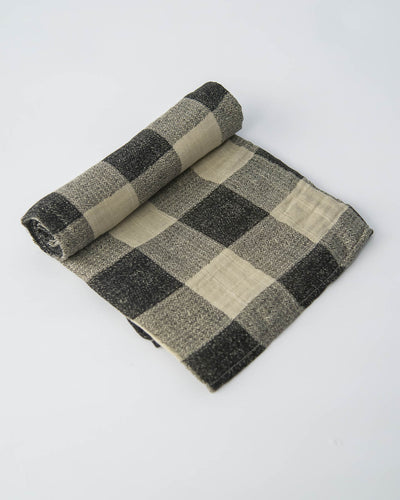 Cotton Muslin Swaddle Blanket - Desert Plaid
