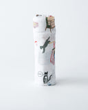Cotton Swaddle - Meow