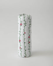Little Prince Cotton Muslin Swaddle Single - Rose Vine