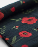 Cotton Muslin Swaddle Single - Dark Summer Poppy