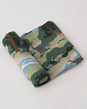LU + Jurassic World Cotton Muslin Swaddle Blanket - Jurassic World