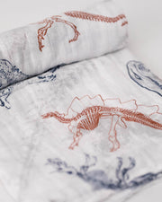 LU + Jurassic World Cotton Muslin Swaddle Blanket - Paleontologic
