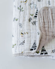 Cotton Muslin Quilt - Forest Friends