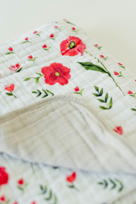 Cotton Muslin Quilt - Summer Poppy