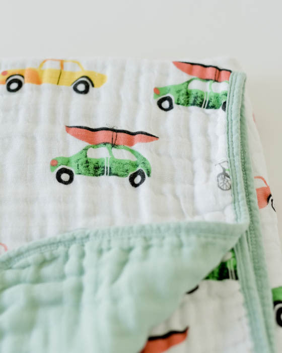 Cotton Muslin Quilt - Traffic Jam