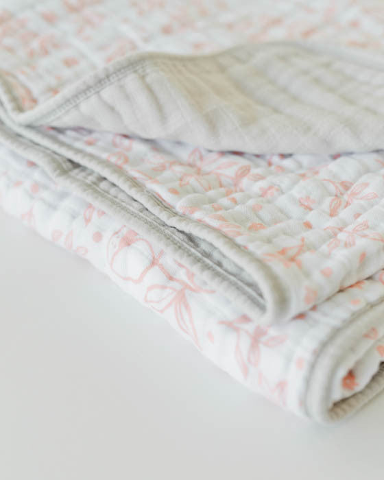 Cotton Muslin Quilt - Garden Rose