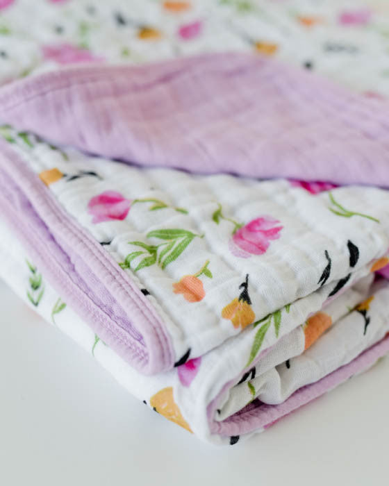 Cotton Muslin Baby Quilt - Berry & Bloom