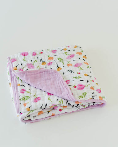 Cotton Muslin Quilt - Berry & Bloom