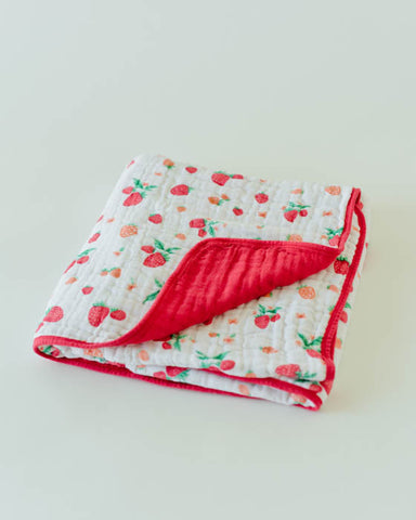 Cotton Muslin Quilt - Strawberry