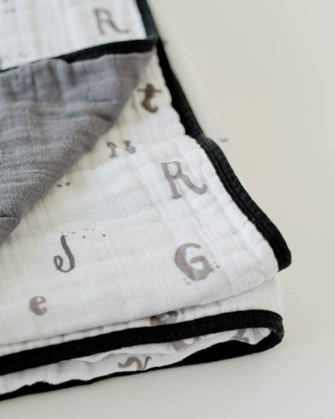 Cotton Muslin Quilt - Hello Alphabet
