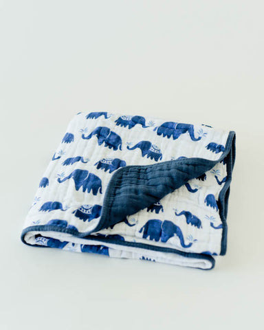 Cotton Muslin Quilt - Indie Elephant