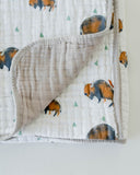 Cotton Muslin Quilt - Bison