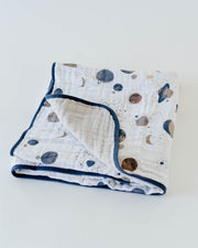 Cotton Muslin Baby Quilt - Planetary