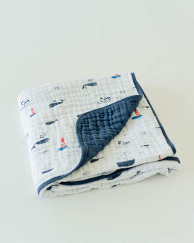 Cotton Muslin Quilt - Nautical Harbor