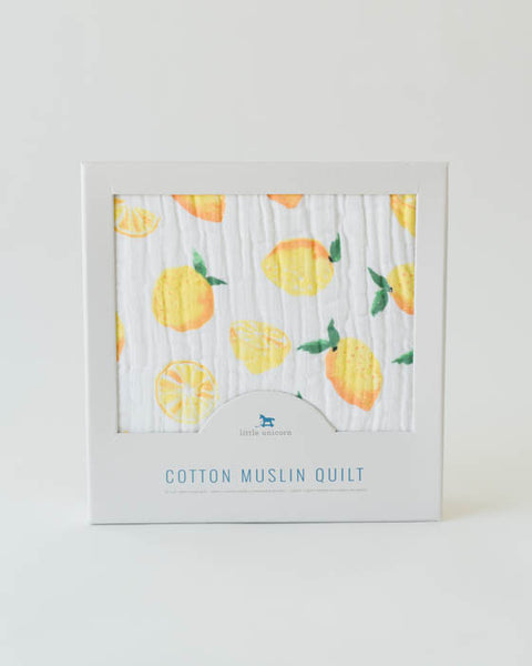 Cotton Muslin Quilt - Lemon