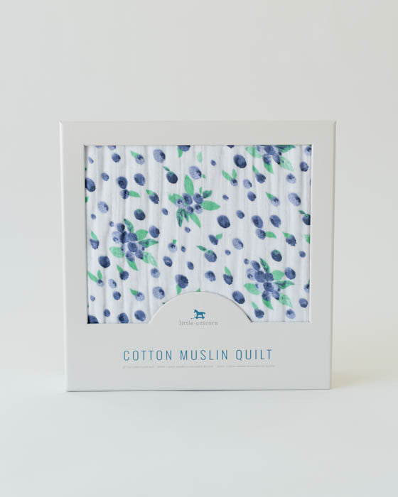 Cotton Muslin Quilt - Blueberry