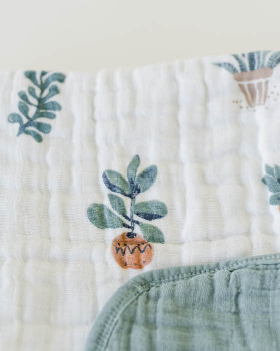 Cotton Muslin Baby Quilt - Prickle Pots