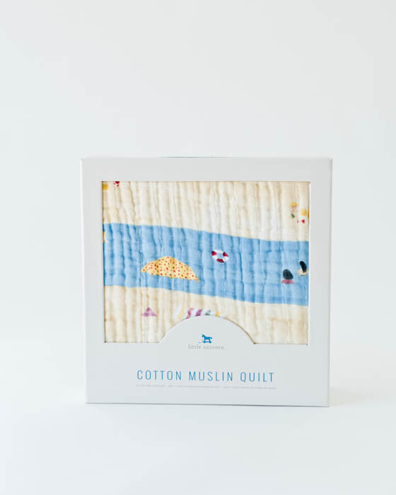 Cotton Muslin Quilt - Tan Lines