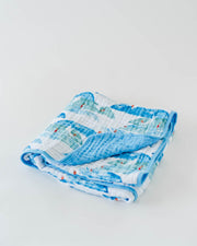 Cotton Muslin Quilt - Surf