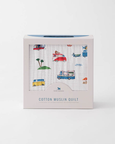 Cotton Muslin Quilt - Food Truck