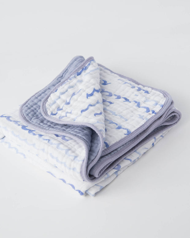 Cotton Muslin Baby Quilt - High Tide