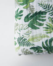Cotton Muslin Quilt - Tropical Leaf