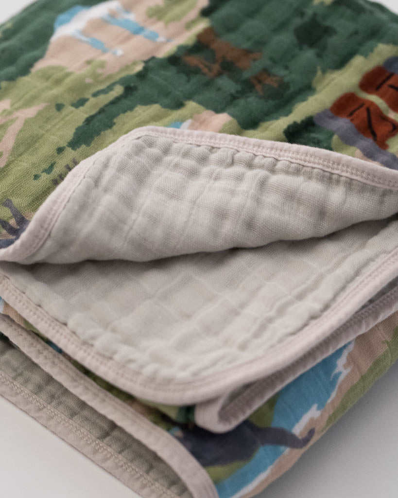LU + Jurassic World Cotton Muslin Quilt - Jurassic World