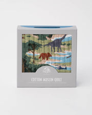 LU + Jurassic World Cotton Muslin Baby Quilt - Jurassic World