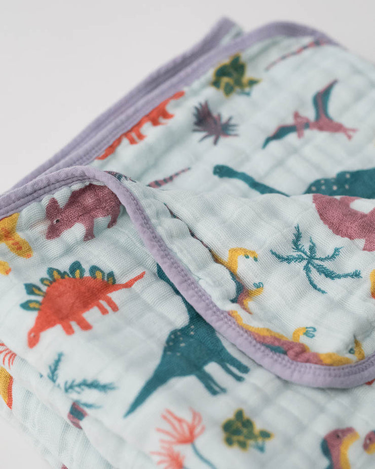 LU + Jurassic World Cotton Muslin Quilt - Embroidosaurus