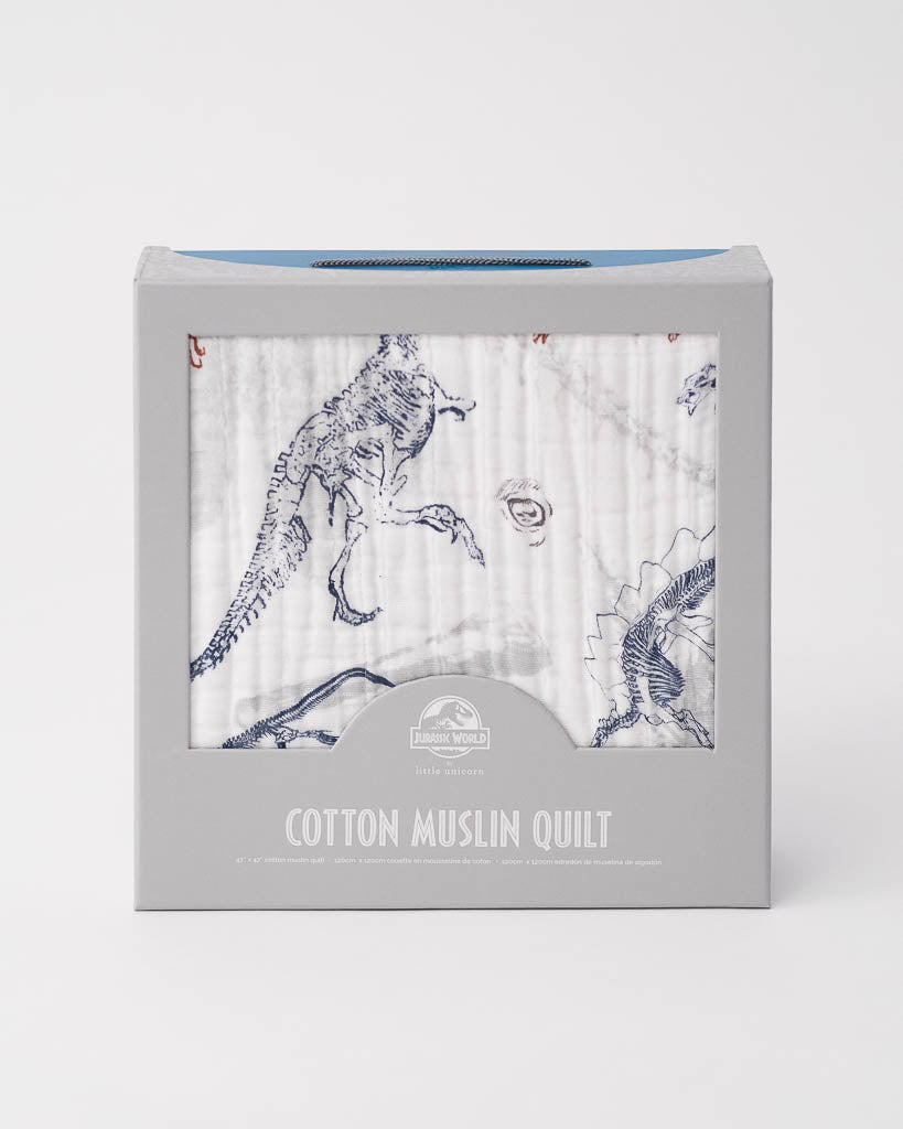 LU + Jurassic World Cotton Muslin Quilt - Paleontologic