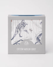 LU + Jurassic World Cotton Muslin Baby Quilt - Paleontologic