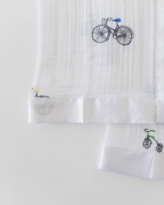 Cotton Security Blankets - Bike Family