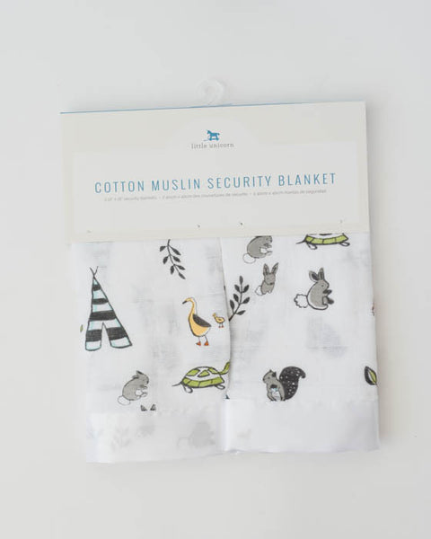Cotton Security Blankets - Forest Friends