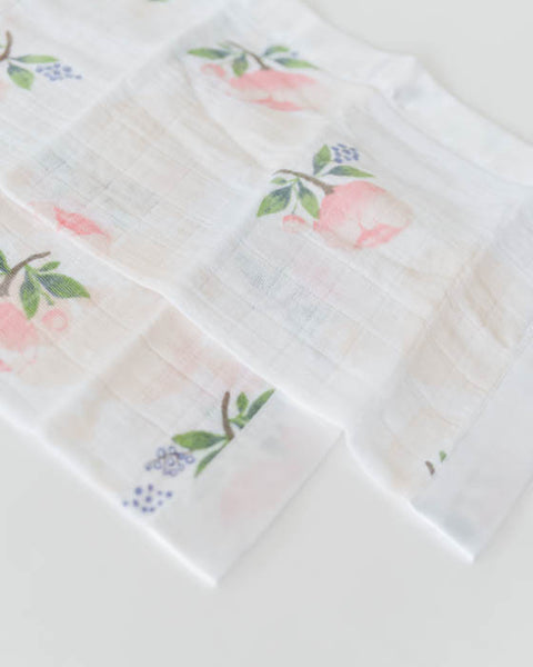 Cotton Muslin Security Blankets - Watercolor Rose