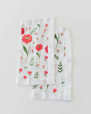 Cotton Security Blankets - Summer Poppy