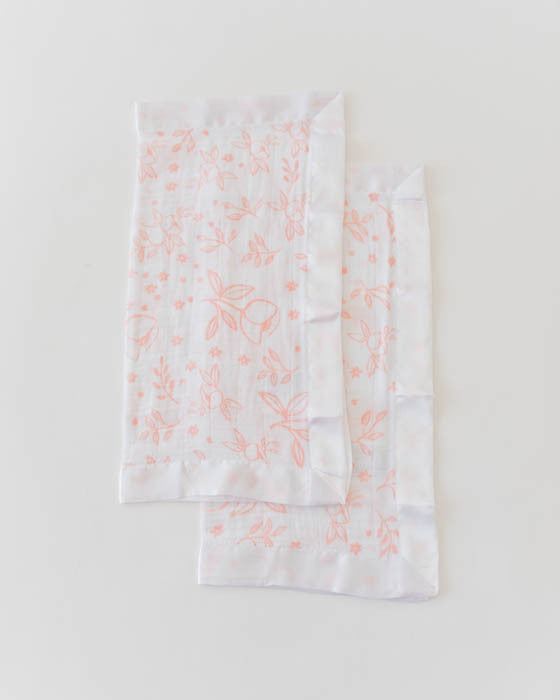 Cotton Muslin Security Blankets - Garden Rose