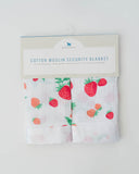 Cotton Security Blankets - Strawberry