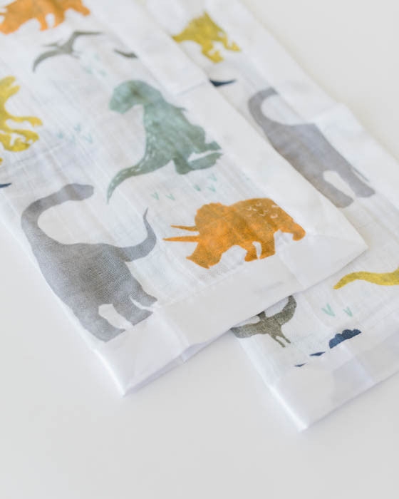 Cotton Muslin Security Blankets - Dino Friends