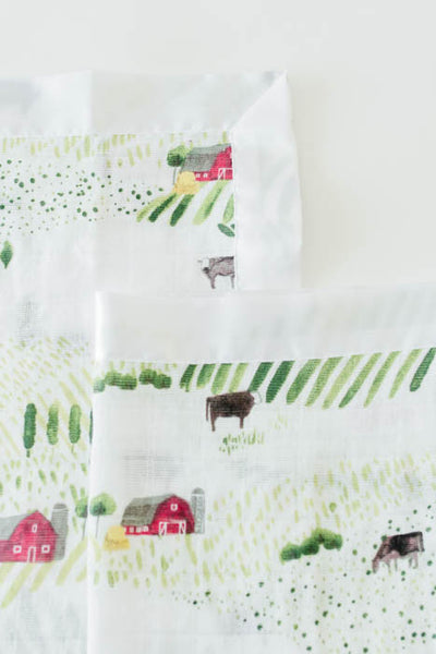 Cotton Muslin Security Blankets - Rolling Hills