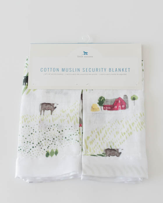 Cotton Security Blankets - Rolling Hills